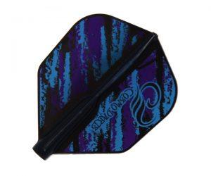 DARTS FLIGHT【Fit Flight AIR】Design Contest Purple & Blue Pattern Shape
