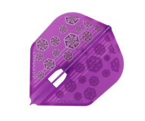 DARTS FLIGHT【 L-Flight x DYNASTY 】PRO KAMI NOBU 2山本信博 Model Purple