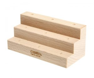 DARTS ACCESSORY【CAMEO】3STAGE WOOD STAND Natural